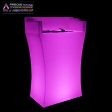 white acrylic led podium
