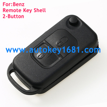Remote Flip Folding car Key Shell case cover for MERCEDES Benz 2button key case