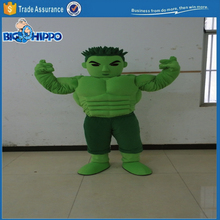 Green Hulk muscle man bodybuilder monster popular movie character avenger high quality custom mascot costume