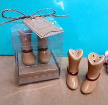 Ywbeyond ceramic cowboy boots salt and pepper shakers wedding return goods party giveaway gifts for guest