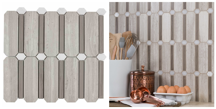 Decorstone24 Chinese Wood Vein Marble New Design Kitchen Tiles Mosaic Backsplash