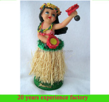 custom resin wholesale dancing hawaii hula girl dolls figurine