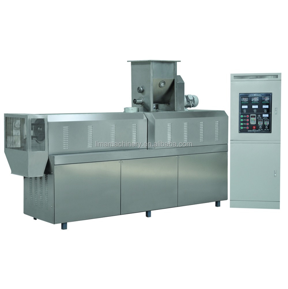 Automatic puff food processing line puffed snacks machine from HENAN LIMA MACHINERY