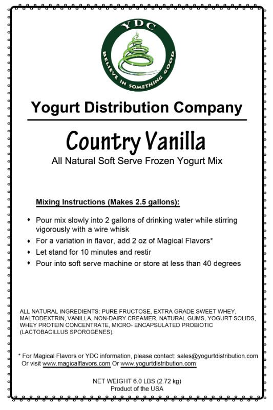 Country Vanilla Soft-Serve Yogurt Mix