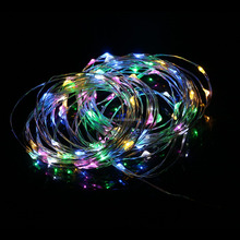 Wholesale Products Safe Plug Led Christmas Halloween Decorative Outdoor Use 10M 100 Bulbs Train Clear Copper Wire String Lights