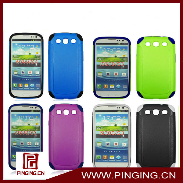 Matt combo case for samsung i9300 galaxy s3,for Samsung galaxy s3 I9300 case cover