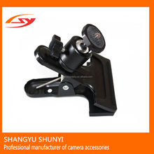 Camera Accessories Metal Mini Tripod Ball Head Camera Mount Clam Clip For Camera