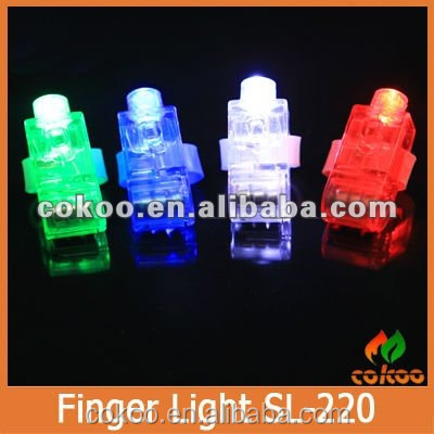 Flashing LED Finger Beams Ring Colorful Lovely Party Lamp Attractive Novelty Lighting Trendy Night Light Bar Christmas Holiday