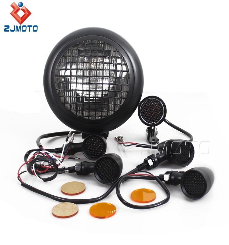 Chinese Manufacturer Wholesale Metal Turn Signals Headlight Turn Signals For Harley Bobber Motorcycles
