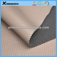 3 layers outdoor sports fabric for winter jackets embossed double knit fabric bond film and polar fleece