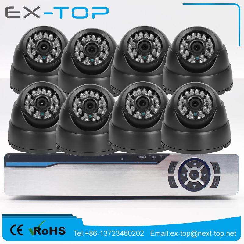 Low Cost Oem Hd Home Security 8CH DVR KIT 2.0mp Ahd Dome CCTV Camera