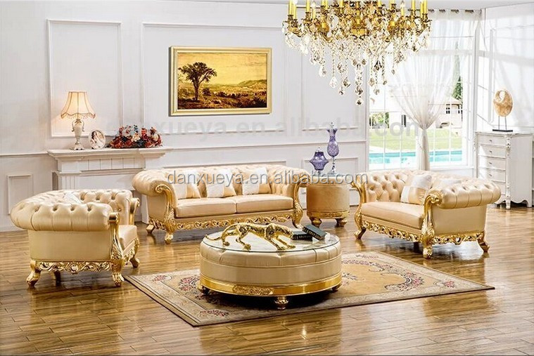 luxury royal golden sofa from foshan furniture