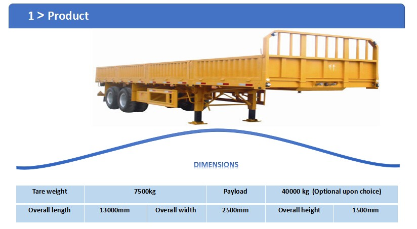 2016 tri-axles-wise sidewall column board lowbed semi trailer