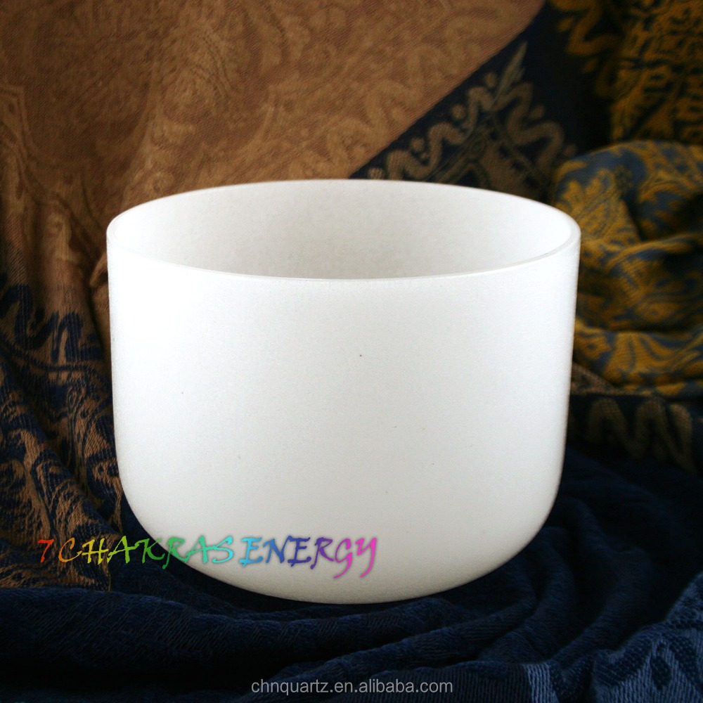 "<strong>10</strong>"" frosted crystal singing bowl for E or <strong>G</strong> or F note and free suede mallet and o-ring"