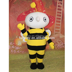 HI CE Cartoon character bee mascot costume, bee costume for sale