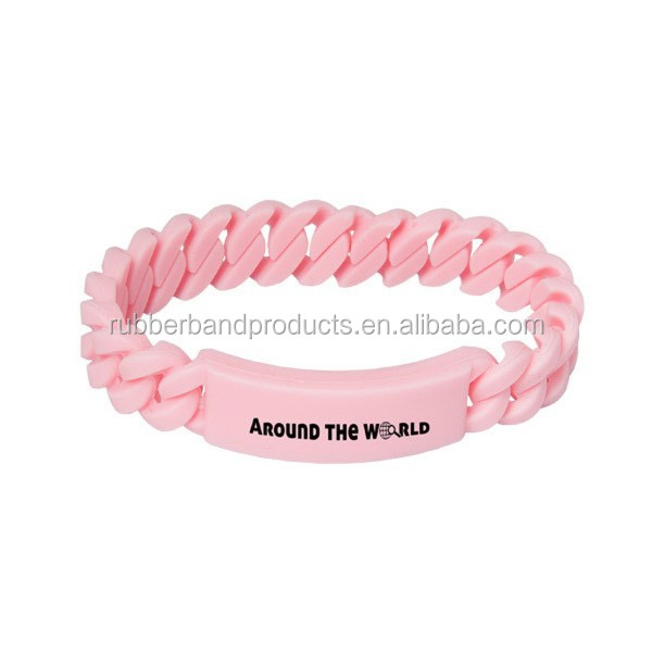 New Design Best Sales Silicone Tyvek Bracelet Twist Rubber Braided Bracelet