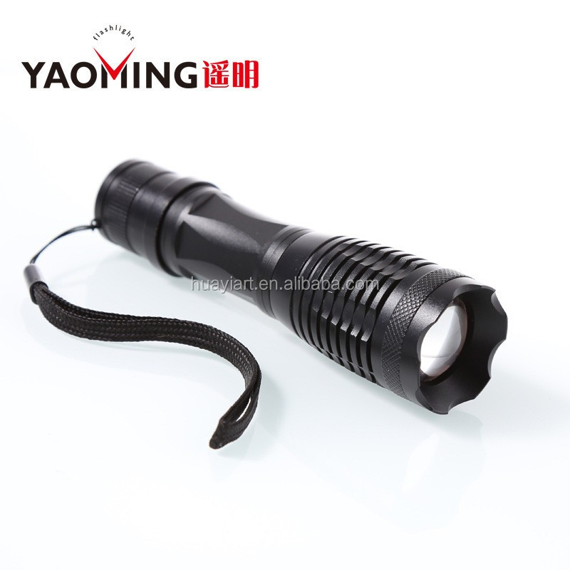 Novelty XML T6 Beam Zoomable YM-T6Q-1 Rechargeable Torch Light Long Distance for Convoy
