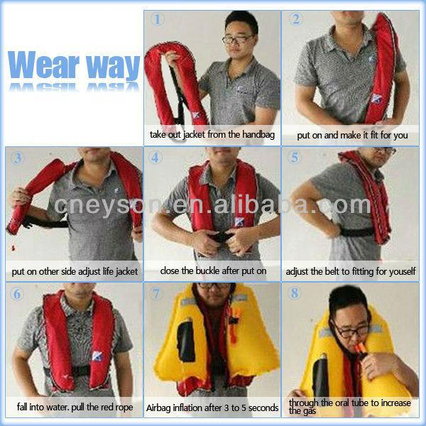 CE Approved Personalized Manual/Auto- Inflating Neck Life Jacket Vest