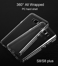Hard PC case for samsung galaxy s8, 99.9% Transparent protective hard shell case for Galaxy S8 plus