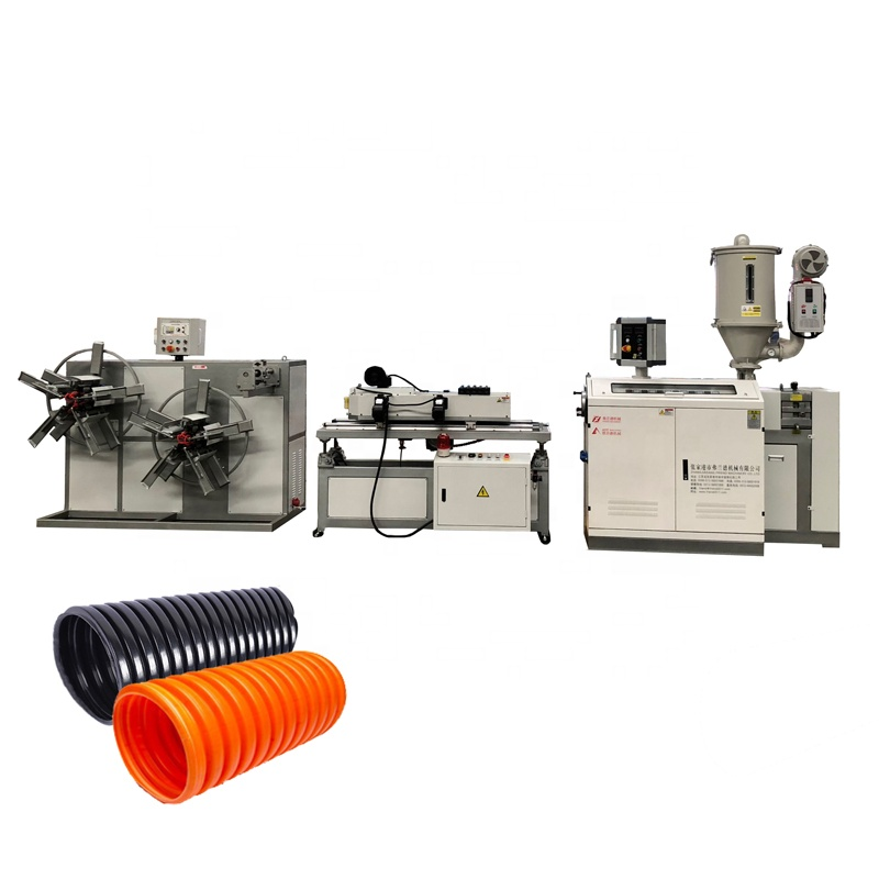 Plastic PVC/<strong>PE</strong>/PP Single Wall Corrugated Pipe Tube/Extrusion Production Line
