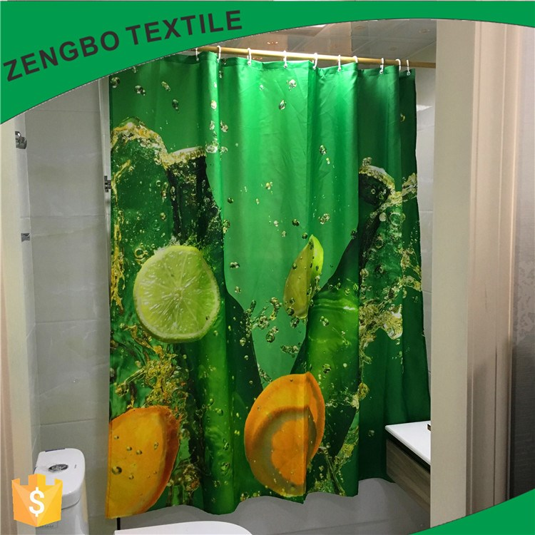 bathroom curtains fruits clear shower curtain design 2019