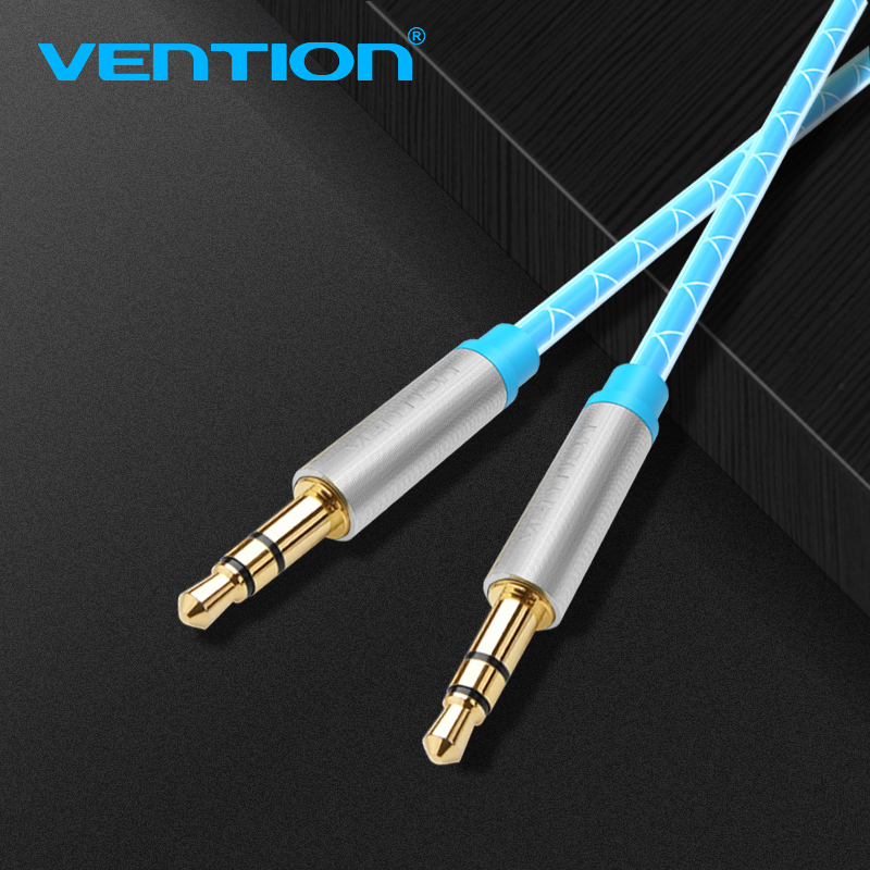 Vention Stereo 3 Pin Male To Male Jack Aux Audio Cable With 3.5MM