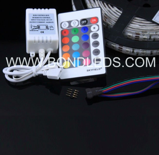 24 keys infrared rgb led controller dimmer pack dmx