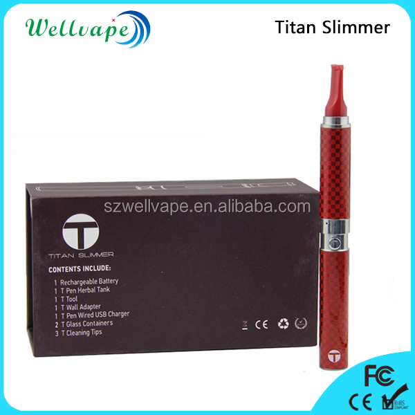 Classic high quality titanium coil herbal e cig snoop dogg vaporizer pen