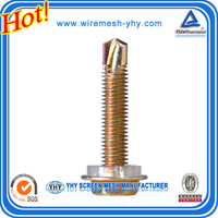 wholesale high quality drilling tail tapping iron screw with plating copper