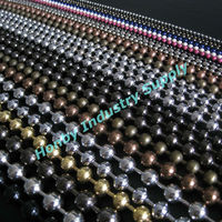 Vertical hanging metal beads door curtain