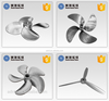 Customized titanium alloy rapid investment casting marine propeller/aircraft propeller