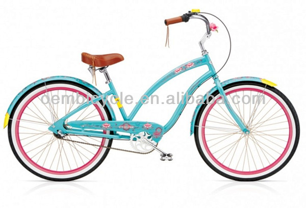 20 inch hot sale blue color girl beach cruiser bike