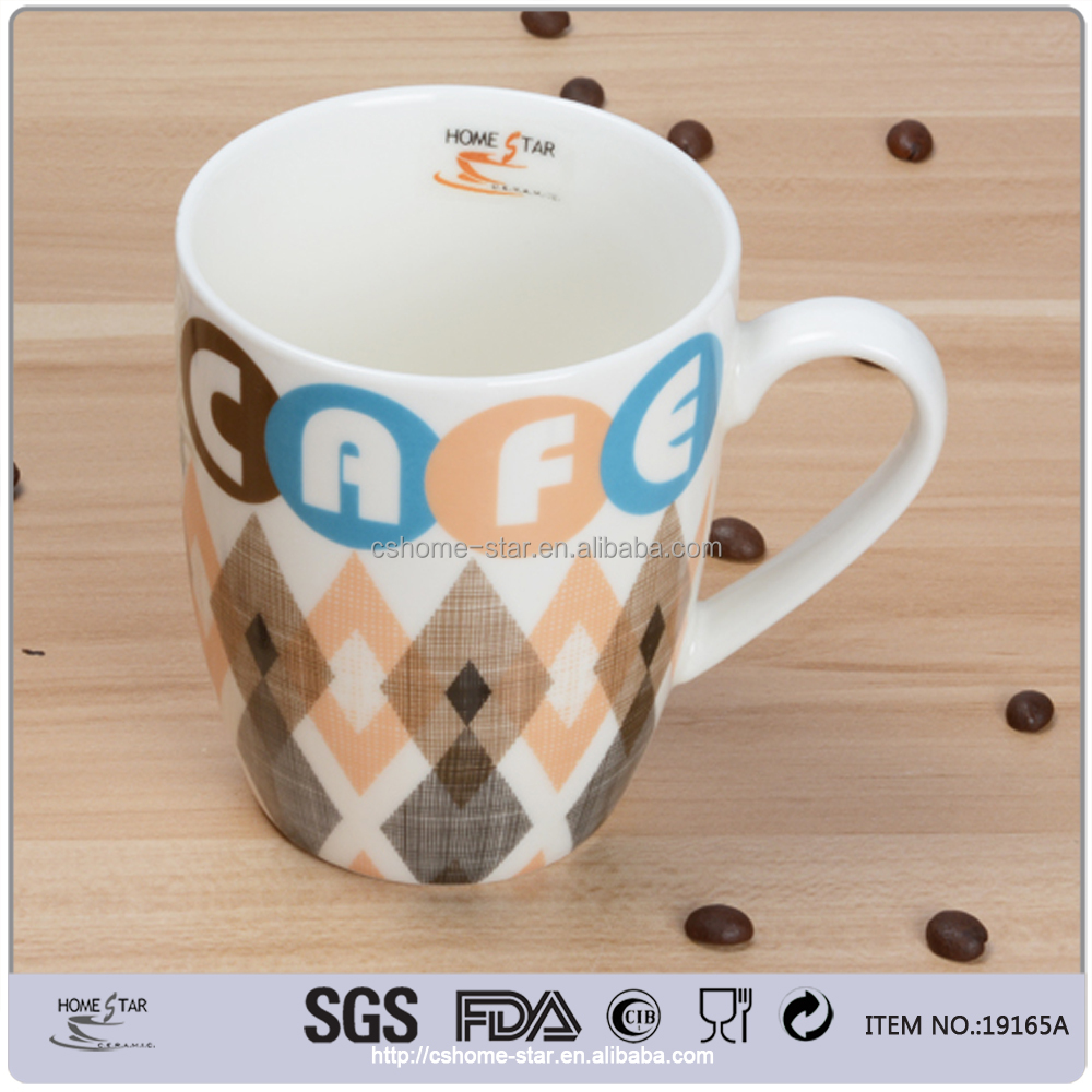 ceramic different shape coffee mugs with new designs