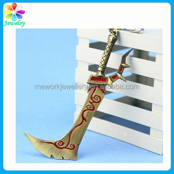 Humourous cute knife sword keyring key chain jewellery accessory world of warcraft keychain