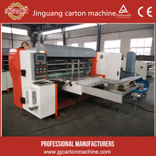 Hebei dongguang different size carton box corrugated cardboard flatbed rotary die cutter machine
