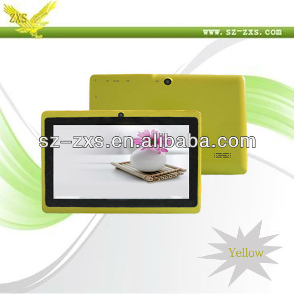 Zhixingsheng best 7 inch cheap tablet pc with front and back camera ZXS-Q88