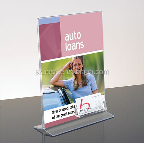 Acrylic Three Side Tabletop Menu Display Stand/Acrylic Three Side Menu Holder