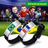 Hot sale 2018 Russian World Cup national flag logo silicone band silicone bracelet for fans gifts