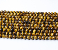 10mm round natural AB grade yellow tiger eye beads kinds of precious stones