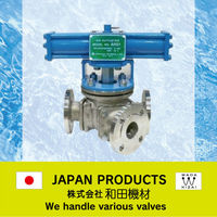Y type 3 way Ball valve for powder , high viscosity fluid