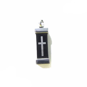 Cross Print Cremation Pendant Jewelry For Dog Pet Memorial