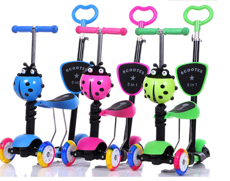 2018 Multi Funzionale Kids Scooter 5 in1and 3 in 1 Bambini Scooter