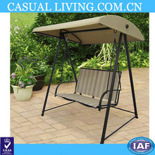 Outdoor adult 2 seat hanging garden swing chair with canopy