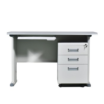 Modern office desk metal desk with drawer computer desk
