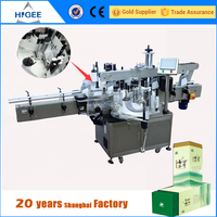 automatic price tea packing shrink sleeve label printing labeling machine for square bottle