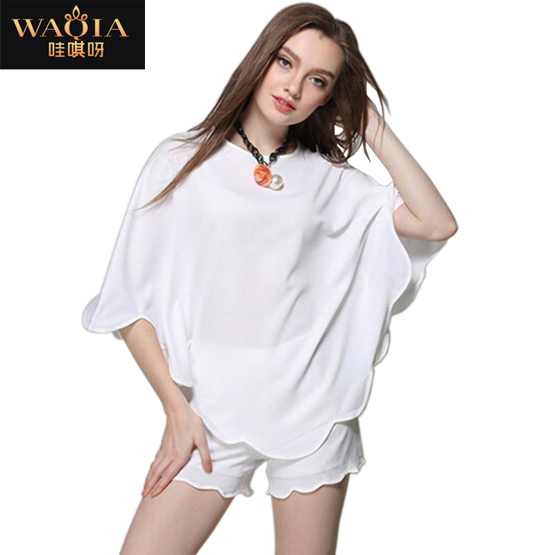 Summer New Arrival European And American Style Women Blouese High Quality Chiffon Top Hot-selling Summer Style Fashion Clothing