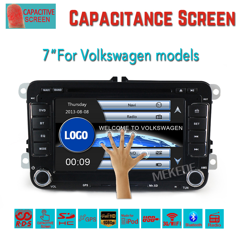2017 hottest for Car gps navigator 7'' VW MAGOTAN/CADDY/PASSAT/GOLF/TIGUAN/TOURAN/JETTA/SKODA/SEAT/Golf 5 (2006-2012) CAR DVD