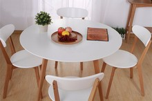 Height adjustable ikea glass dining table and chair