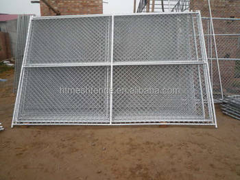 hot-dipped galvanized America popular used wire mesh temporary chain link fence
