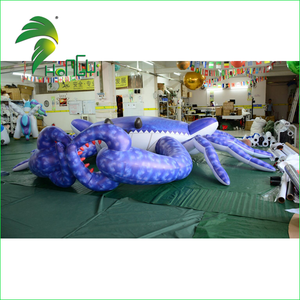 Low Price Vividly Giant Inflatable Crab Cartoon / PVC Customized Advertising Inflatable Seafood Replicas